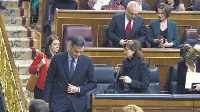 Bochan el presupuesto en el Congreso español