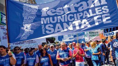 Los municipales santafesinos vuelven al paro durante dos días la semana próxima