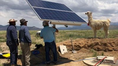 Instalaron 22 bombas solares de agua en la Puna