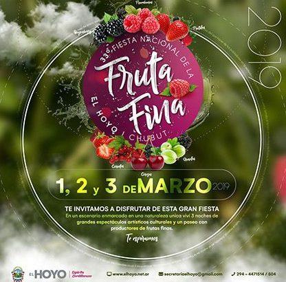 Este viernes comienza la 33° Fiesta Nacional de la Fruta Fina