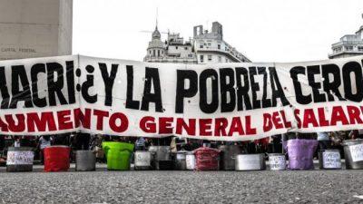 Por la crisis y la pobreza, movimientos sociales acamparán en las puertas de los hipermercados