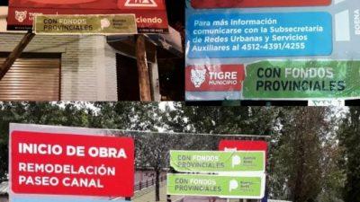 """Guerra de carteles en Tigre: el massismo acusa a Vidal de querer """"apropiarse"""" de obras municipales"""