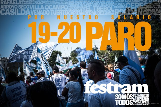 19 y 20 de marzo paro de municipales santafesinos