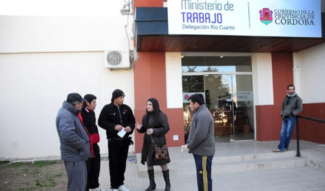 Por la crisis, creció 30% la demanda que recibe el Ministerio de Trabajo en Río Cuarto
