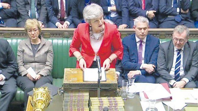 Rechazo parlamentario al plan Brexit de May