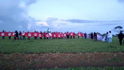 Campesinas ocuparon tierras en Brasil
