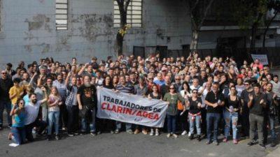 «Pascuas en la calle» contra los 65 despidos en Clarín