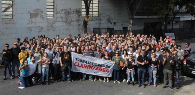"""""""Pascuas en la calle"""" contra los 65 despidos en Clarín"""