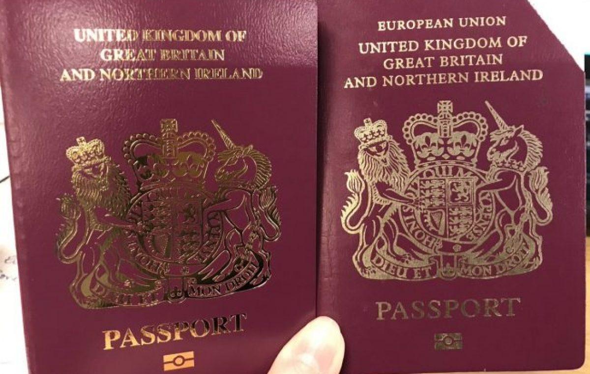Los pasaportes británicos ya no dicen «Unión Europea»