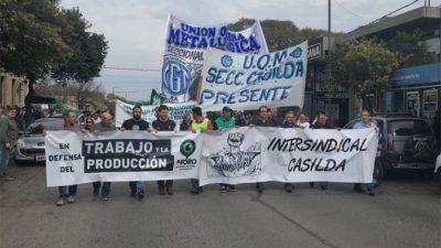 Casilda se moviliza en defensa de la producción, el trabajo y los salarios