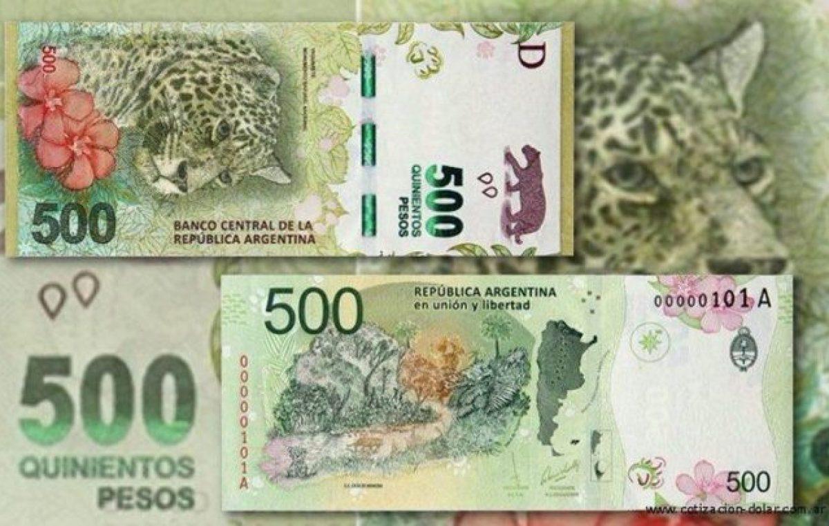 El billete de 500 pesos perdió más de la mitad de su valor