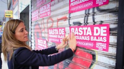 La Plata: «Basta de persianas bajas»
