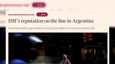 «El FMI se juega su reputación en la Argentina»