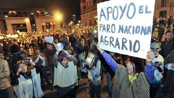Paro de loscampesinos en Perú