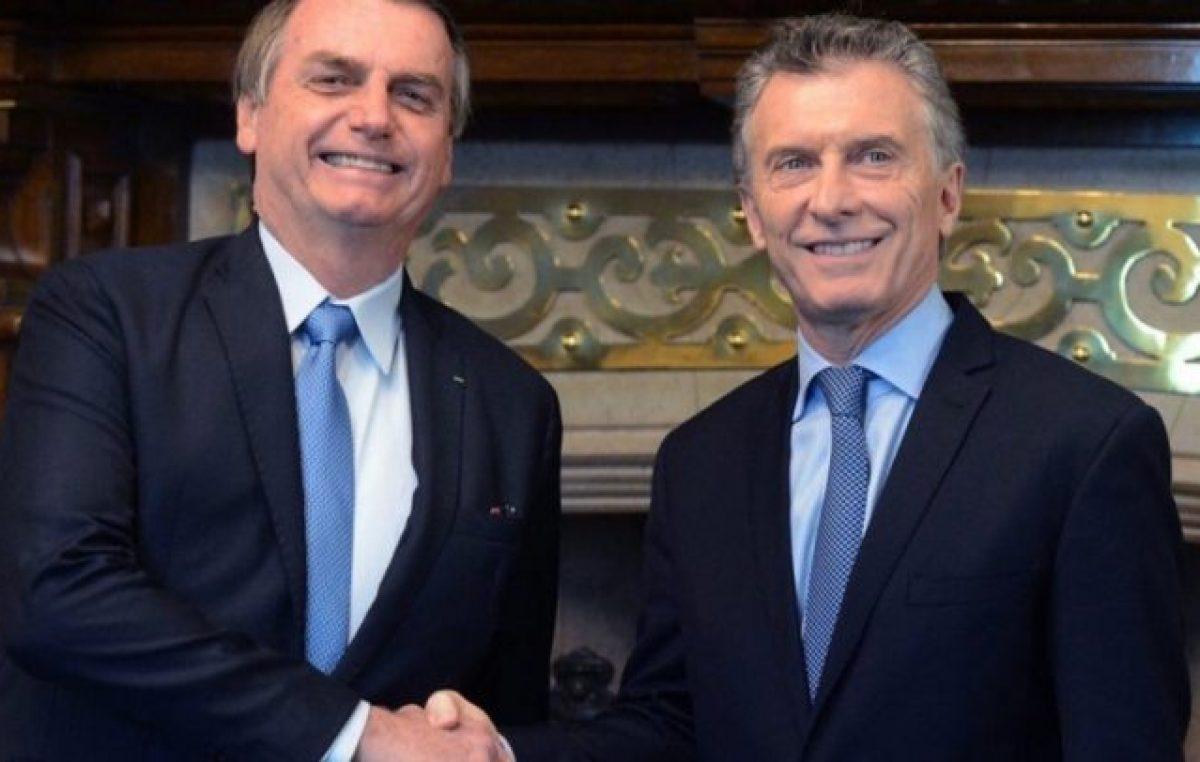"""El abrazo de oso de Bolsonaro a Macri: """"tenemos los mismos ideales"""""""