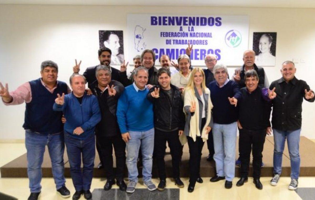 El Frente Sindical de los Moyano formalizó su apoyo a la fórmula Kicillof – Magario
