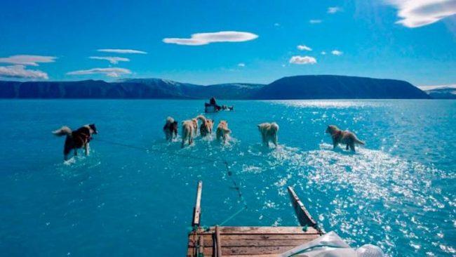 El deshielo en Groenlandia alerta sobre el cambio climático