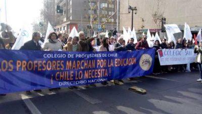 Paro y marcha docente en Chile