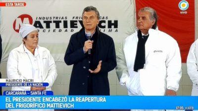 Posible cierre de un frigorífico que había reinaugurado Macri hace casi un año: 300 despidos