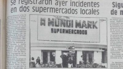 La crisis del 89 en Río Cuarto: intentos de saqueo, alcancías y reparto de comida