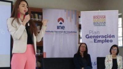 Políticas instrumentadas en Bolivia consiguen la creación de 123.000 nuevos empleos