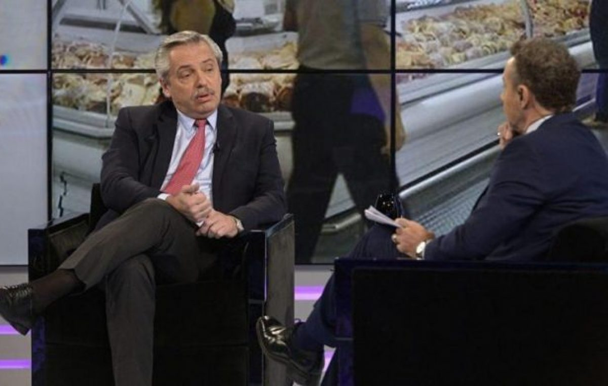 Alberto Fernández se cruzó con Majul: «¿Podrá hacer el esfuerzo de dejarme contestar, Luis?»