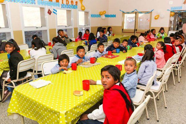 Darán el almuerzo los fines de semana en 139 escuelas de Salta