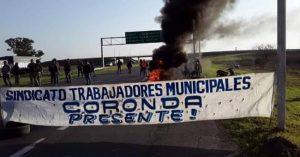 Municipales de Coronda cortaron la autopista en reclamo de sueldos atrasados