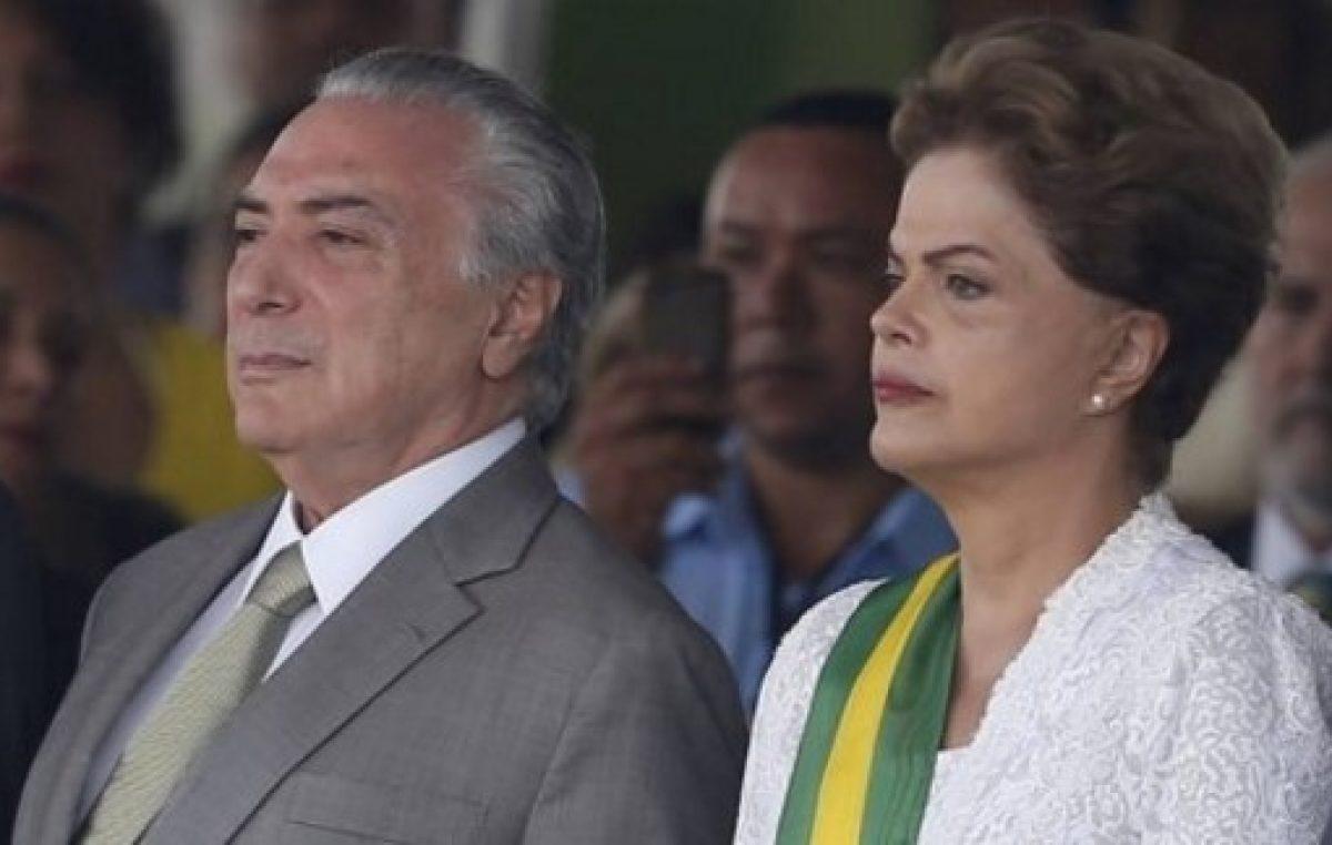 Temer dice que destitución de Rousseff fue «golpe de Estado»