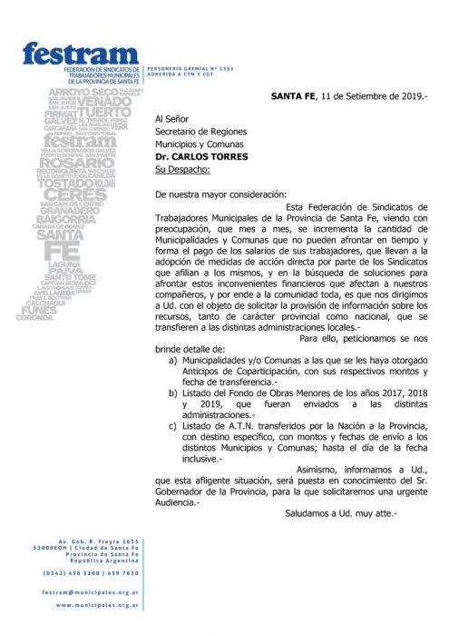 Reunión con Gobierno por la situación de los Municipios y Comunas santafesinas