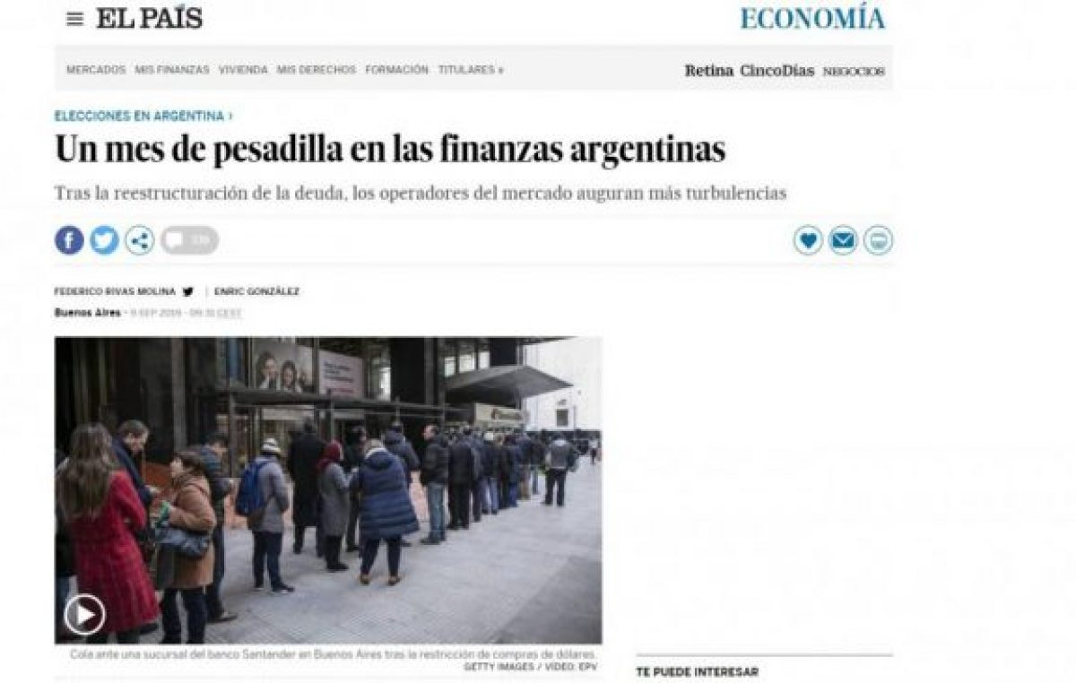 La debable argentina sigue siendo noticia