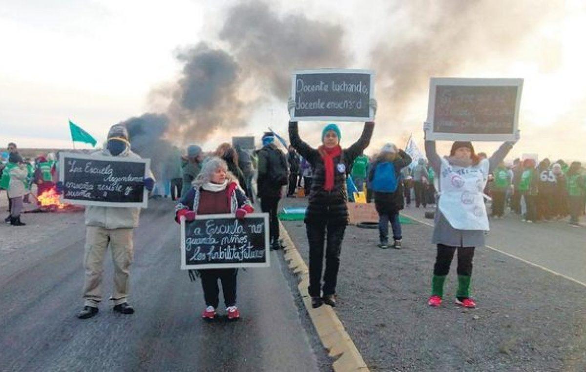 Chubut: Las rutas siguen cortadas