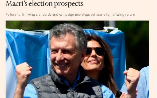 """El Financial Times demoledor: """"Macri es un hombre muy rico que no está en contacto con los problemas de la gente"""""""
