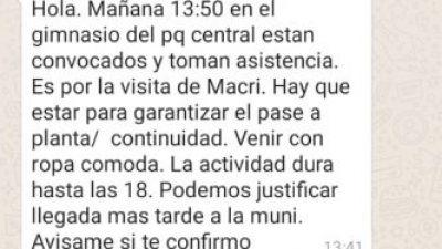 Municipales de Neuquén denuncian que los obligan a ir a la marcha #SíSepuede