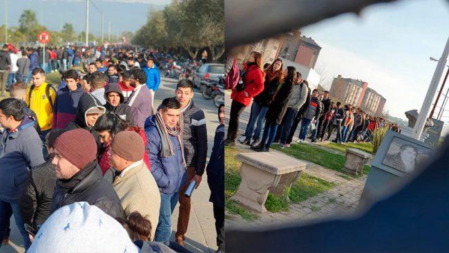 Macri, Vidal y los brotes marchitos: más de 2500 personas aplicaron para apenas doce puestos en una fábrica