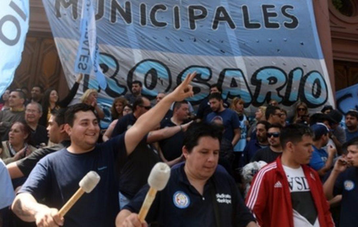 Los municipales rosarinos lanzan una nueva protesta por el cobro desdoblado de haberes