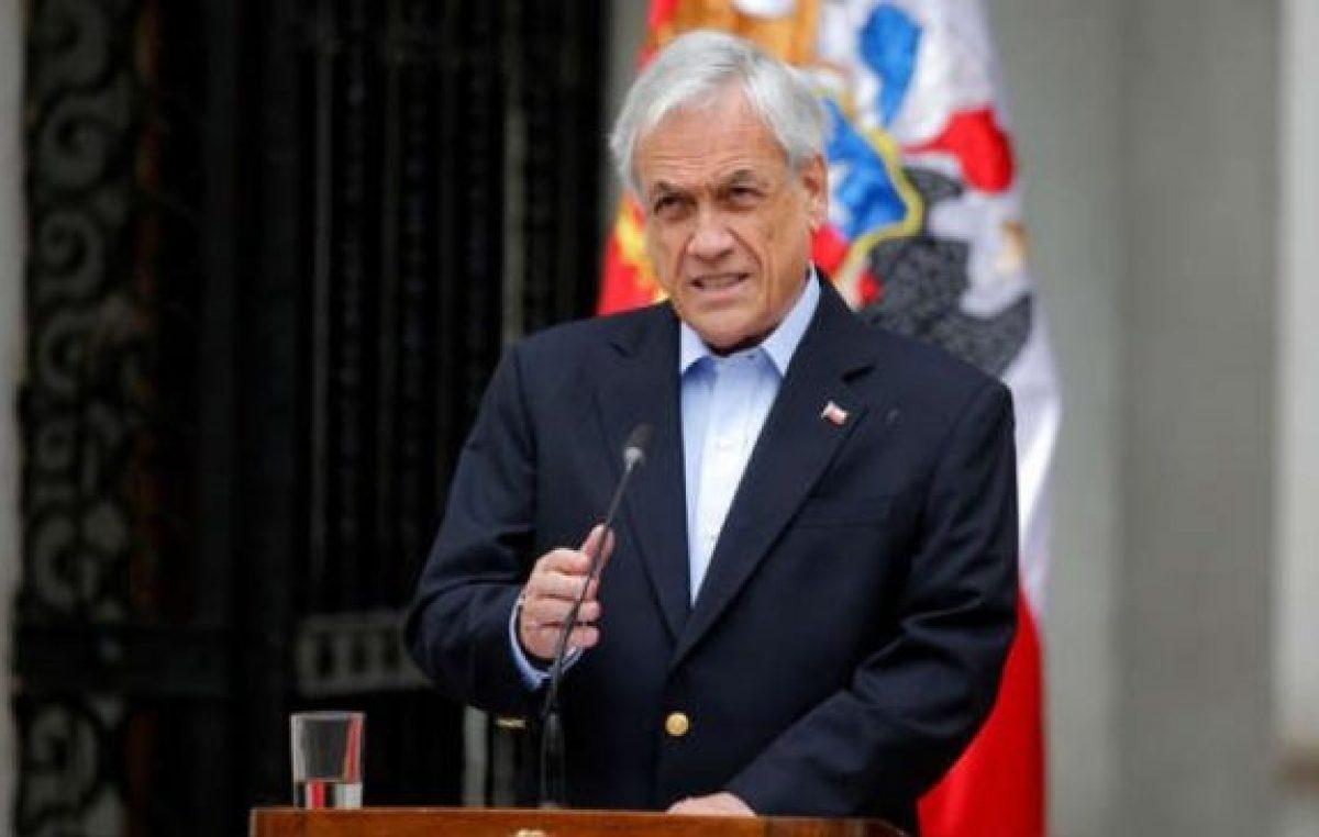 Piñera anunció iniciativa para que Fuerzas Armadas protejan edificios públicos