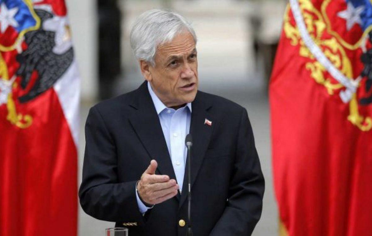 Piñera pidió al Congreso apurar leyes represivas