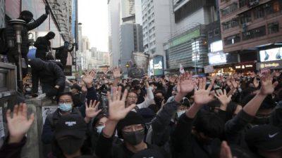 Otra vez, Hong Kong salió en masa a reclamar por más libertades a Pekín