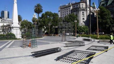 Alberto Fernández asume sin rejas en Plaza de Mayo