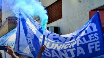 Municipales santafesinos en alerta por despidos y falta de pagos