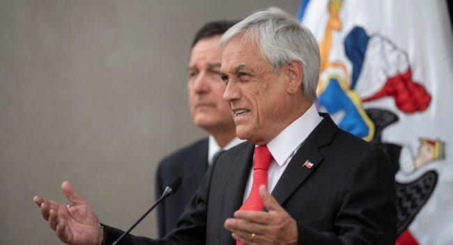 Piñera alcanzó el nivel más bajo de aprobación presidencial