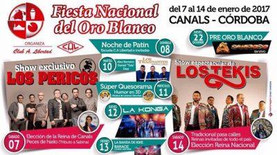 FIESTA NACIONAL DEL ORO BLANCO, del 4 al 12 de enero, Canals