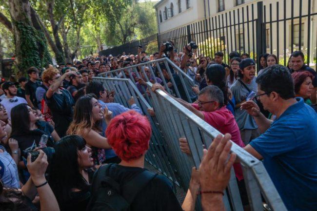 Disturbios por los exámenes de ingreso a la universidad en Chile