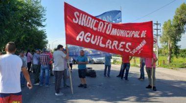 Sur tucumano: Trabajadores municipales cortan la ruta nacional 38