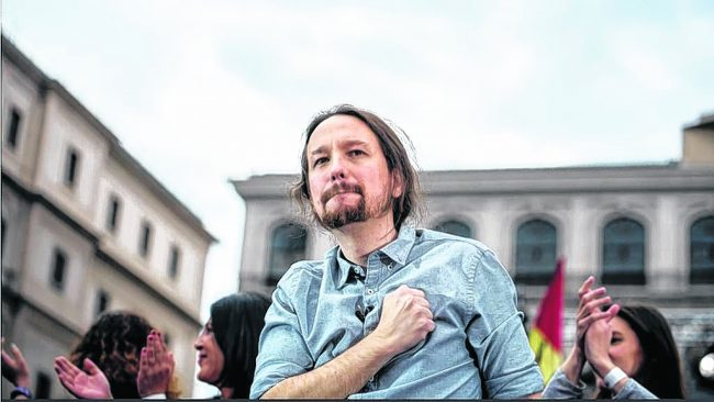 Podemos, de las sentadas de protesta al gobierno español