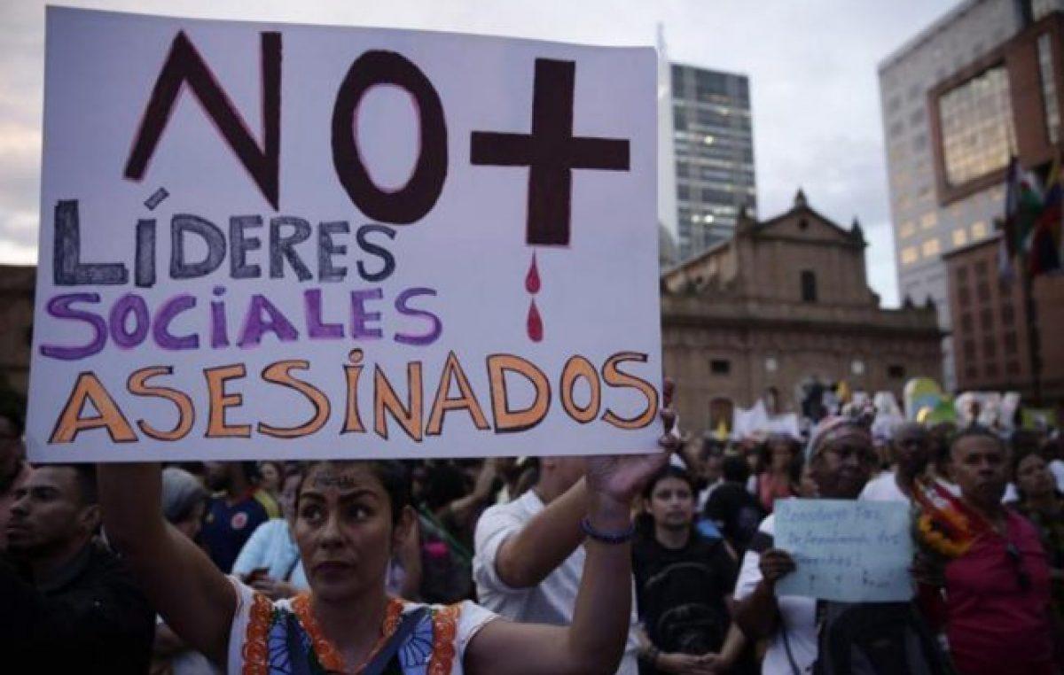 En Colombia 19 líderes sociales fueron asesinados en lo que va de 2020