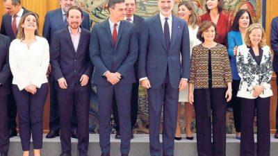 España: la coalición de izquierda llegó a La Moncloa