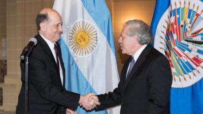 Solá desplazó al embajador ante la OEA que nombró Macri antes de irse