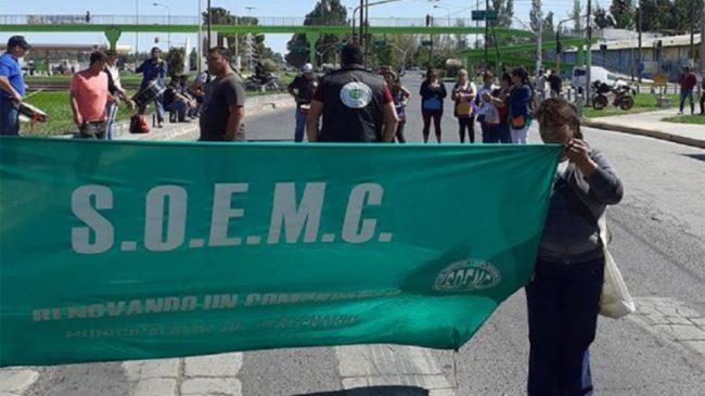 Centenario: municipales realizan dos cortes de ruta